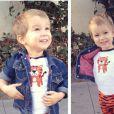 Finneus James, le fils de la jolie Autumn Reeser, lors d'Halloween, le 31 octobre 2013.