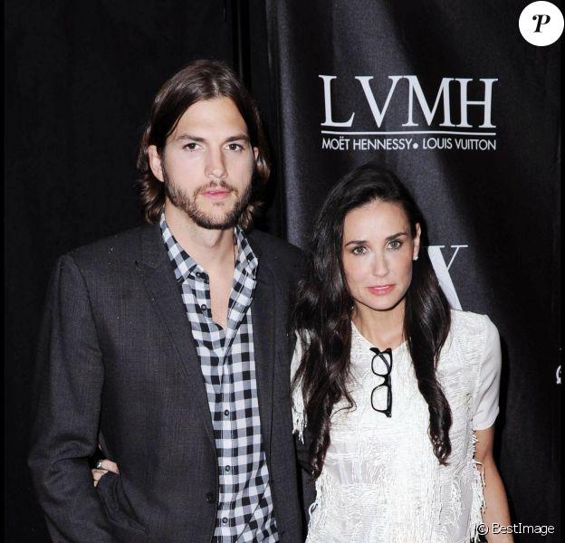 Ashton Kutcher et Demi Moore à New York, le 9 juin 2011.
