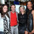 """Laurent Artufel, Cindy Lopes et Vincent McDoom - Conférence de presse des """"Lauriers TV Awards"""" à l'hôtel Seven à Paris le 2 décembre 2013."""