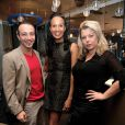 """Laurent Artufel, Vincent McDoom et Cindy Lopes a la conférence de presse des """"Lauriers TV Awards"""" a l'hôtel Seven à Paris le 2 décembre 2013. Cette cérémonie aura lieu le 9 janvier prochain à la Cigale."""