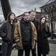 Charlotte Gainsbourg, Lars von Trier, Stellan Skarsgard et Stacy Martin lors du photocall du film Nymphomaniac à Copenhague, le 4 décembre 2013.