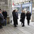 Exclusif - Obseques de Jacqueline Duforest en la collegiale Saint Aubin de Guerande, a Guerande en Loire Atlantique le 28 Novembre 2013. Jacqueline Duforest etait productrice tele vedette dans les annees 60-70, notamment aux cotes de Guy Lux.28/11/2013 - Guerande
