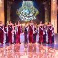 Les douze demi-finalistes de Miss France 2014 sur le thème Princesse Anastasia lors de l'élection Miss France 2014 sur TF1, en direct de Dijon, le samedi 7 décembre 2013