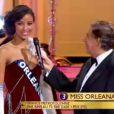 Miss Orléanais se présente lors de l'élection Miss France 2014 sur TF1, en direct de Dijon, le samedi 7 décembre 2013
