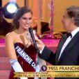 Miss Franche-Comté se présente lors de l'élection Miss France 2014 sur TF1, en direct de Dijon, le samedi 7 décembre 2013