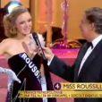 Miss Roussillon se présente lors de l'élection Miss France 2014 sur TF1, en direct de Dijon, le samedi 7 décembre 2013