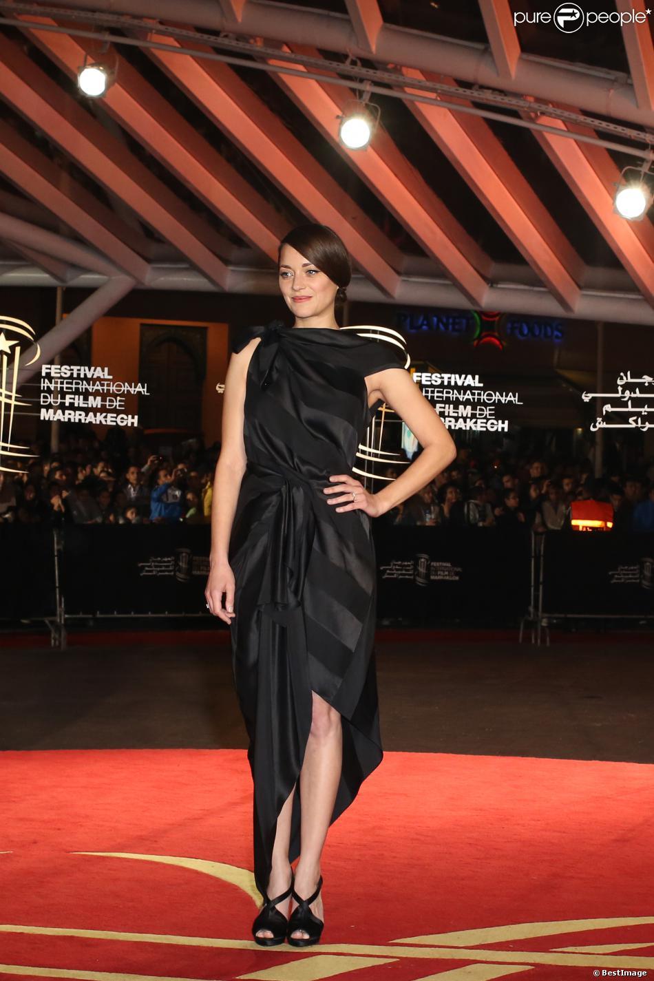 Marion Cotillard lors de la cérémonie de clôture du 13e Festival International du Film de Marrakech le 7 décembre 2013