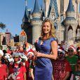 Lara Spencer lors de l'enregistrement du show Disney Parks Christmas Day Parade en Floride, novembre 2013.
