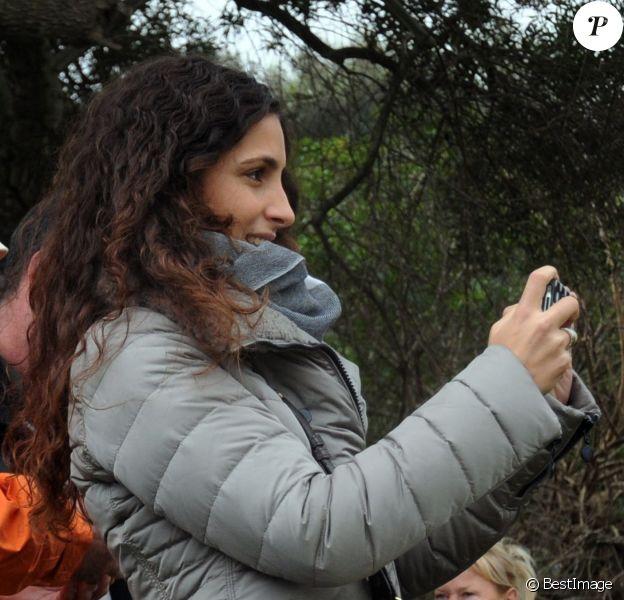 Xisca, fan de la première heure de son homme Rafael Nadal lors du tournoi de golf Nadal & Olazabal Invitational à Majorque, le 30 novembre 2013