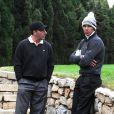 Rafael Nadal et José Maria Olazabal lors du tournoi de golf Nadal & Olazabal Invitational à Majorque, le 29 novembre 2013