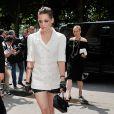 Kristen Stewart a fait une arrivée remarquée au défilé Haute Couture Chanel à Paris en juillet 2013