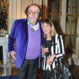 Jean-Michel Ribes et sa femme Sydney lors de la cérémonie de remise des insignes de Commandeur des Arts et des Lettres à Jean-Michel Ribes au ministère de la Culture et de la Commmunication à Paris. Le 10 décembre 2013.