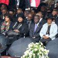 Des membres de la famille de Nelson Mandela, Zindzi Mandela, Zenani Mandela, sa seconde femme Winnie Mandela-Madikizela et sa veuve Graça Machellors de l'hommage à Nelson Mandela à Johannesburg le 10 décembre, 2013.