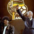 Nelson Mandela et Winnie à Wembley en avril 1990.