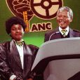 Nelson Mandela et et son ex-femme Winnie en avril 1990.