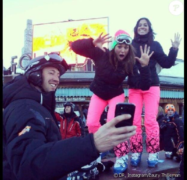 Laury Thilleman, Laurie Cholewa et Alain Bernard passent du bon temps à Val d'Isère.