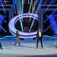 EXCLUSIF. Les coachs Philippe Candeloro Surya Bonaly Gwendal Peizerat et Sarah Abitbol lors de la finale d'Ice Show, le 18 décembre 2013, sur M6.