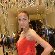 """Noemie Lenoir, ambassadrice et egerie de la marque de pret a porter de luxe """"Aloha"""" durant l'inauguration de la boutique a Paris. Le 19 decembre 2013 19/12/2013 - Paris"""