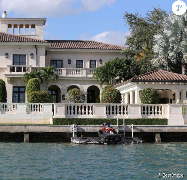 Illustration de la maison de Elle Macpherson à Miami, le 19 décembre 2013.
