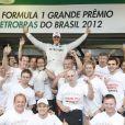 Michael Schumacher lors de sa dernière course au Grand Prix du Brésil à Sao Paulo le 25 novembre 2012