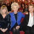 Chantal Goya, Daniele Gilbert et Sheila sur le plateau de Vivement dimanche, à Paris, le 12 décembre 2013. Diffusion prévue sur France 2 le dimanche 5 janvier 2014.