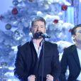 Le chanteur Gregoire sur le plateau de Vivement dimanche, à Paris le 12 décembre 2013. Emission diffusée le dimanche 5 janvier 2014.
