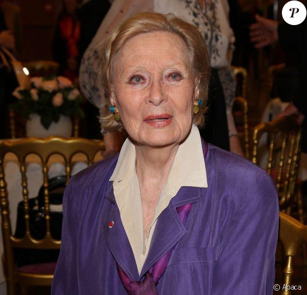 Michèle Morgan fête ses 92 ans à Puteaux , le 29 février 2012.