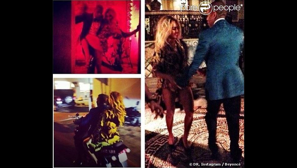 Beyoncé et Jay Z ont célébré le Nouvel An à la Versace Mansion (officiellement nommée Casa Casuarina) à Miami Beach. Le 31 décembre 2013.