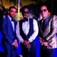 Drake, Diddy et French Montana au soir du Nouvel An à la Versace Mansion. Miami, le 31 décembre 2013.