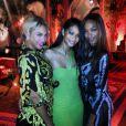 Beyoncé, Chanel Iman et Jourdan Dunn au soir du Nouvel An à la Versace Mansion. Miami, le 31 décembre 2013.