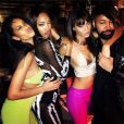 Chanel Iman, Jourdan Dunn, Joan Smalls et Ty Hunter (le styliste de Beyoncé) au soir du Nouvel An à la Versace Mansion. Miami, le 31 décembre 2013.