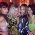 Joan Smalls, Beyoncé, Jourdan Dunn et Chanel Iman au soir du Nouvel An à la Versace Mansion. Miami, le 31 décembre 2013.