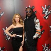 Kylie Minogue et will.i.am : Élégants héros du The Voice anglais, avec Tom Jones