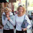 Heather Locklear et sa fille Ava Sambora dans les rues de Los Angeles, le 6 janvier 2014.