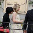"""Emily Blunt (enceinte) assiste au """"Dior Luncheon"""" organisé à l'hôtel Sunset Towers d'Hollywood, le 8 janvier 2014."""