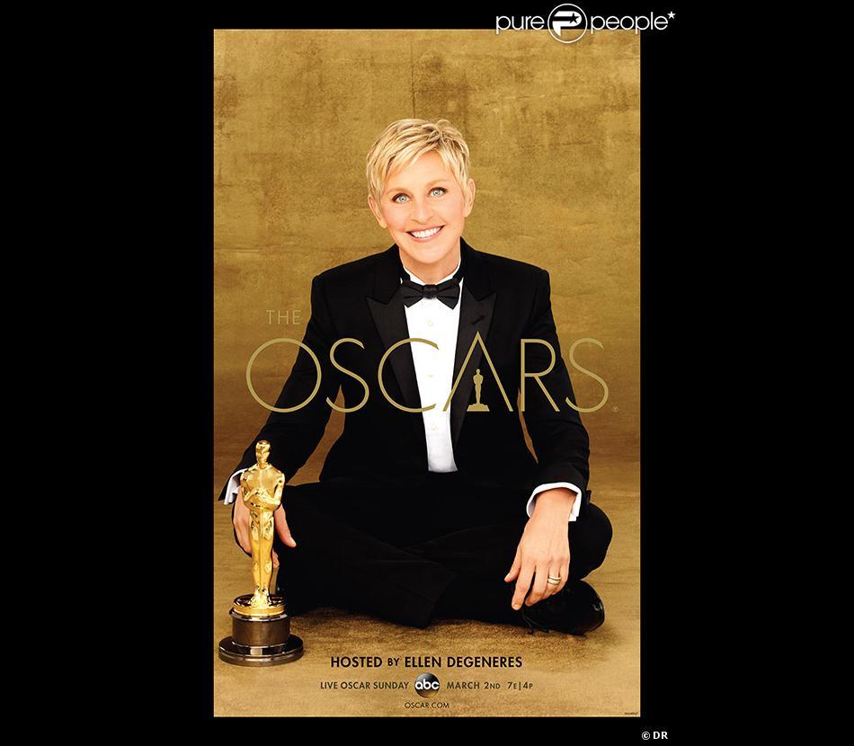 Ellen DeGeneres sur l'affiche officielle des Oscars 2014.