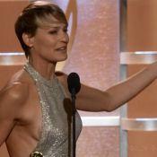 Robin Wright laisse échapper sa poitrine aux Golden Globes 2014