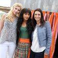 """Exclusif - Adeline Blondieau, Nadége Lacroix et Joséphine Jobert sur le tournage de la saison 2 de la série """"Sous le soleil"""", dans laquelle elle tient le rôle principal. Le 26 septembre 2013"""