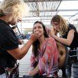 """Exclusif - Adeline Blondieau sur le tournage de la saison 2 de la série """"Sous le soleil"""", dans laquellle elle tient le rôle principal. Le 26 septembre 2013"""