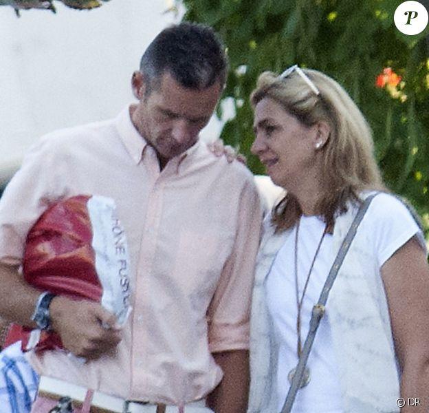 Iñaki Urdandarin et Cristina d'Espagne, un couple dans la tourmente du scandale Noos... A Genève le 30 août 2013.