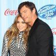 Jennifer Lopez et Harry Connick Jr. à la première d'American Idol, à Los Angeles, le 14 janvier 2014.