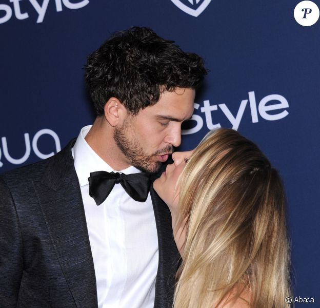 Kaley Cuoco et Ryan Sweeting lors de la soirée HBO post Golden Globe à Los Angeles, le 12 janvier 2014