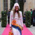Anna dello Russo (Vogue Japon) au défilé Schiaparelli Haute couture printemps-été 2014 à Paris, le 20 janvier 2014.