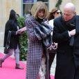 Anna Wintour au défilé Schiaparelli Haute couture printemps-été 2014 à Paris, le 20 janvier 2014.