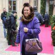 Suzy Menkes (Herald Tribune) au défilé Schiaparelli Haute couture printemps-été 2014 à Paris, le 20 janvier 2014.