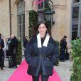 Emmanuelle Alt (Vogue Paris) au défilé Schiaparelli Haute couture printemps-été 2014 à Paris, le 20 janvier 2014.