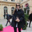 Elle Macpherson au défilé Schiaparelli Haute couture printemps-été 2014 à Paris, le 20 janvier 2014.