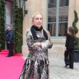 Franca Sozzani (Vogue Italie) au défilé Schiaparelli Haute couture printemps-été 2014 à Paris, le 20 janvier 2014.