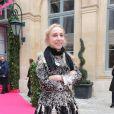 Franca Sozzani au défilé Schiaparelli Haute couture printemps-été 2014 à Paris, le 20 janvier 2014.