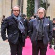 Andrea Della Valle et Diego Della Valle au défilé Schiaparelli Haute couture printemps-été 2014 à Paris, le 20 janvier 2014.